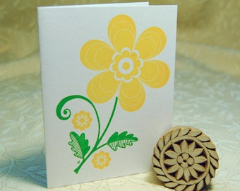 Big Yellow Daisy Letterpress Notes