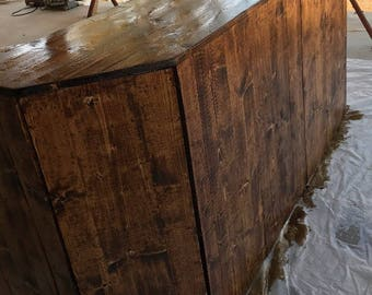 Rustic Farmhouse Bar Made To Order Local Pick Up Delivery Only 30