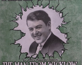 1917 I Love And Adore You Fiske O'Hara Costello The Man From Wicklow by Augustus Pitou Song Book Sheet Music
