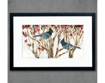 Steller's Jay Art Print on Paper