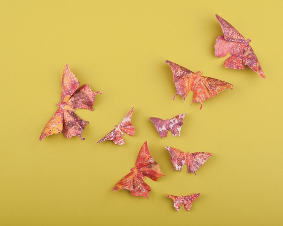 3D Butterfly Wall Art: Wildflower Paper Butterflies for Wall