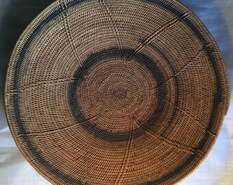 Native American Coiled Winnowing Basket