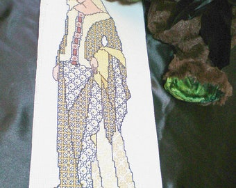 Mothers day gift, Black work Lady Guinevere, King Arthur, medieval cross stitch, needle point, embroidery, historical fantasy wall hanging.