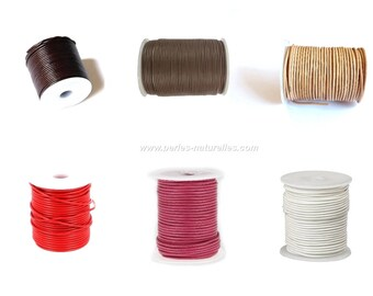 2mm Leather Cord - 1/10/50m - Choice the Color