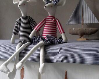 Stuffed toy mouse, Soft toy mice, Nautical kids decor, Kids toy Mouse, Coastal decor, Whimsical Mouse sailor, Nautical Nursery, Beach house