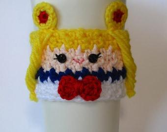 Crochet Sailor Moon Inspired Coffee Cup Cozy
