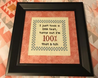 Lizzo - DNA Test 100 Percent Cross-Stitch Pattern