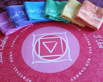 Chakra Pillowcases  Stimulate your Chakra Points while you Sleep! Beautiful Design!