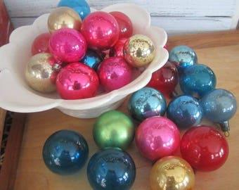 26 Solid Vintage Mercury Glass Christmas Tree Ornaments Vintage Christmas Ornaments Solids