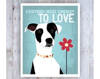 Dog Rescue, Black and White Dog, Dog Art, Rescue Dog, Dog Poster, Dog Print, Dog Picture, Animal Rescue, Dog Wall Decor, Pet Art, Home Decor