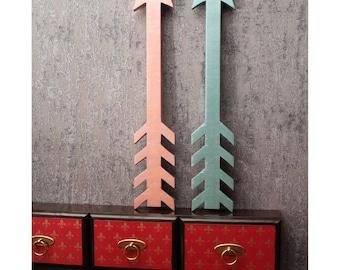 wall decor, 2 wooden arrow, nursery decor, wood arrow, nursery wall art, Directional Arrow, 2 arrows in set, metallic color, wedding decor