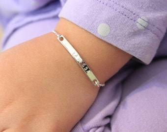 Personalized child bracelet,  toddler bracelet, Date Bracelet, birthday baptism gift, children jewelry, Name  bracelet,  personalized kids
