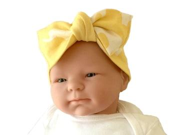 Organic headband, baby bow headband, baby girl headband, newborn headband, headwrap for baby, baby knot headband, baby knot headband