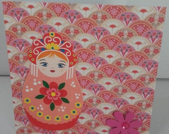 Russian doll greeting card
