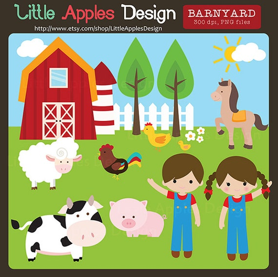 barnyard clip art barnyard clipart farm animals clipart rh etsy com barnwood clipart barnwood clipart