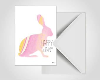 Happy Bunny/postcards, cards, Easter, greeting cards, Easter Bunny, egg, chick