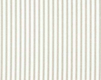 Bradford Valance Pebble Taupe Ticking Stripe