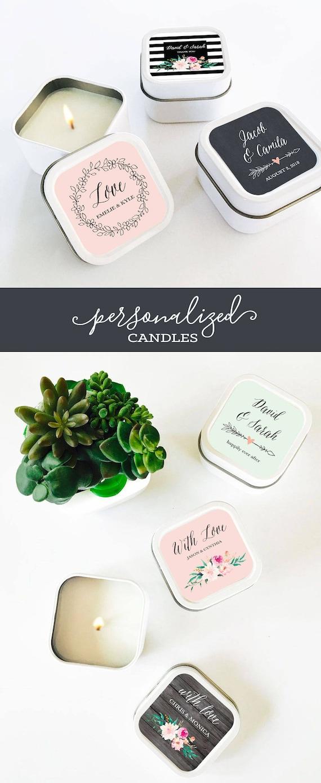Hochzeitsgeschenke Kerzebevorzugungen Hochzeit Gunsten