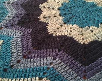 Shades of Blue Star Blanket