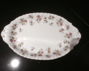 Royal Albert Winsome Tray for Mini Cream and Open Sugar Bowl Under Plate