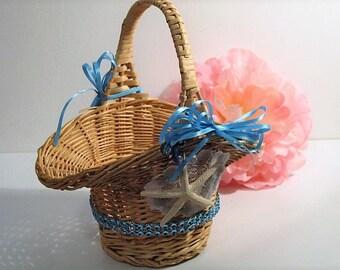 wedding, flower girl basket, basket, beach wedding, destination wedding, wedding basket, beach flower girl basket, timelesspeony