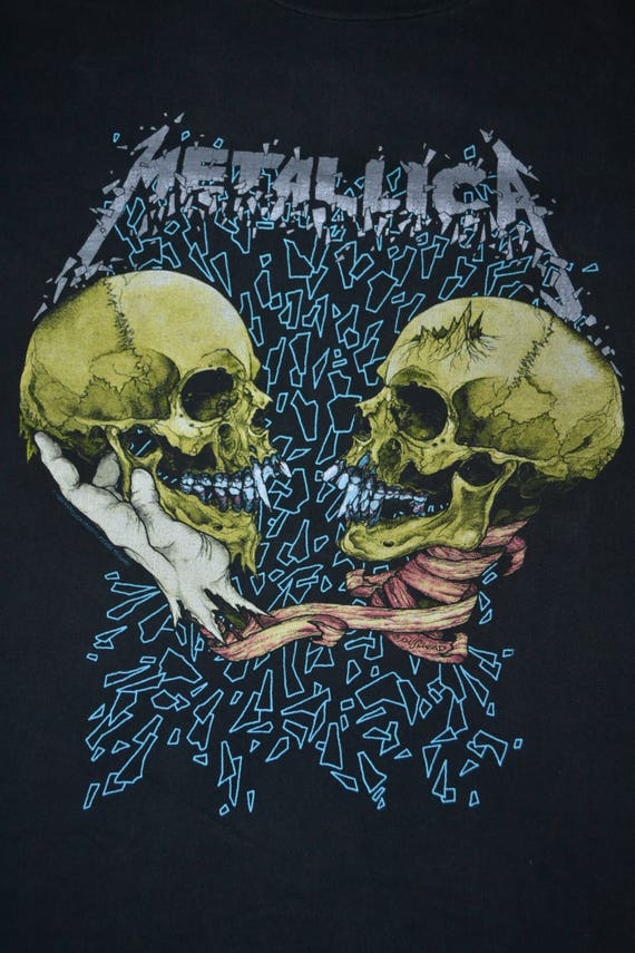 Pushead Tour album Sad T shirt 90s rare METALLICA True Concert 1994 Promo But Vintage xwq0Yz6F6