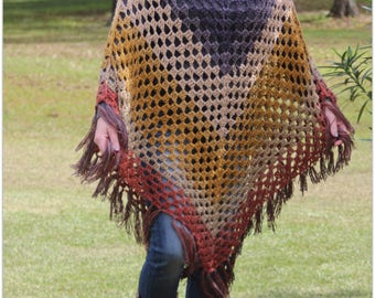 Long Crochet Poncho