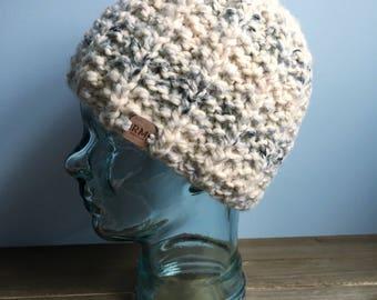 HANDMADE Ready to ship | Winter beanie, Knit hat, knit beanie, neautral beanie, wool beanie, unisex winter hat