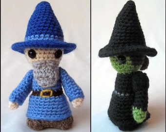 Witch and Wizard Mini Amigurumi Pattern PDF - Crochet Pattern