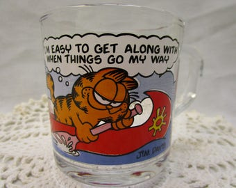 1978 Garfield And Odie Coffee Cup McDonalds Garfield Mug Jim Davis Garfield Odie Coffee Cup