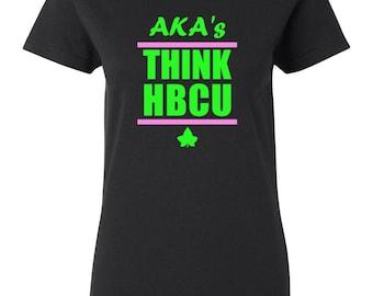 AKA's THINK HBCU Short Sleeve or Long Sleeve Shirt