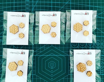 Hexagon pin badges