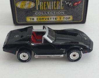Vintage Matchbox Premiere Collection 78 Corvette T Top Black Car