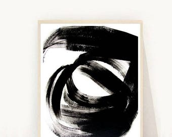 Minimalist Print, Abstract Art Print, Black and White Art, Printable Art, Instant Download, Home Decor Wall Art, Wall Decor