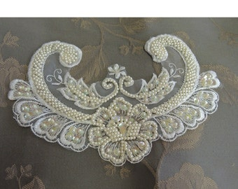 Bridal Applique - Iredescent sequin applique
