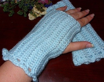Blue Fingerless Gloves - Blue Wristwarmers - Blue Wrist Warmers - Blue Gauntlets - Blue Gloves - Blue Arm Warmers - Blue Texting Gloves