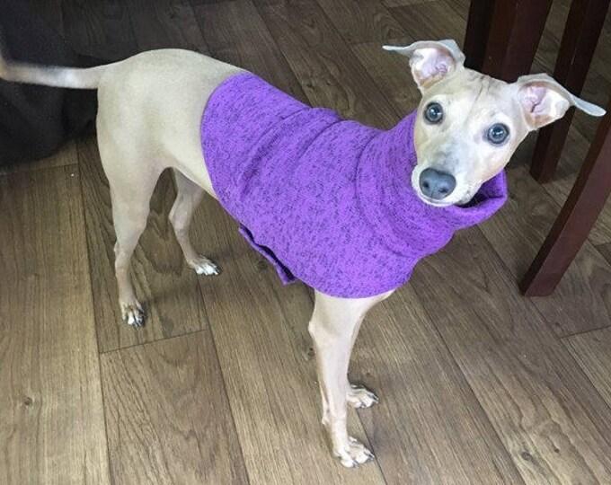 "Italian Greyhound Sweater. ""Purple Haze Sweater - Italian Greyhound Sizes."