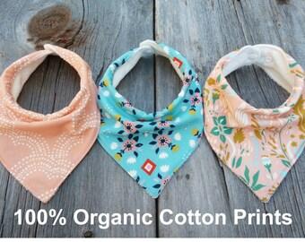 Organic bandana bibs, Modern baby bibs, Baby girl gift, Teething bib, Drool Bib, Cotton bandana bib, Organic baby gift, Organic baby clothes