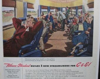 "Trav-R ... 104  ""Pullman-Standard ...""  Magazine Ad - March 1946"