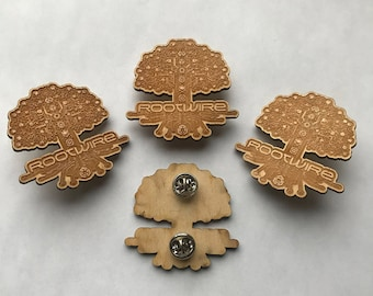 Rootwire Laser-Etched Wooden Pin
