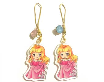 Sleeping Beauty gemstone charm