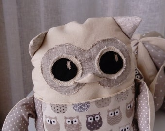 OWL blanket in cotton fabric