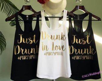 Drunk in Love Custom Hash tag Tank, Just Drunk Custom hashtag Tanks, Drunk in Love Just Drunk, Bachelorette Party Tanks, Bachelorette Shirts