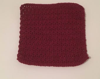 Handmade crochet washcloth