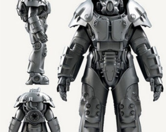 Fallout 4 X-01 power armor wearable cosplay pepakura paper model kit to build your own