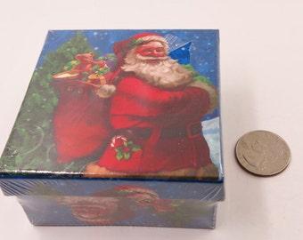 Nested Holiday Box, Blue Christmas Box, Santa Claus Box, Two Box Set, Holiday Presents Box, Holiday Gift Box, Christmas Present Box