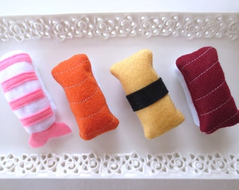 Cat toys Catnip Sushi Catnip toy for cat gift for cat lover organic catnip toy unique cat toy cute cat toy handmade felt cat toy birthday