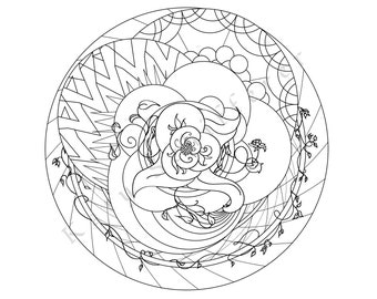 Circular Design | Coloring Page for Adults
