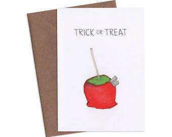 Trick or Treat, Halloween Greeting Card, Subversive Cards, Funny Greeting Cards, Adult Cards