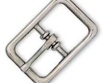 "Bridle Buckle 1"" (2.5 cm) Nickel Plated 1512-00 by Tandy Leather"